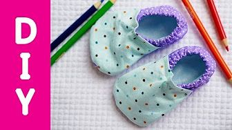 Как сшить теплые ботиночки для малыша - YouTube