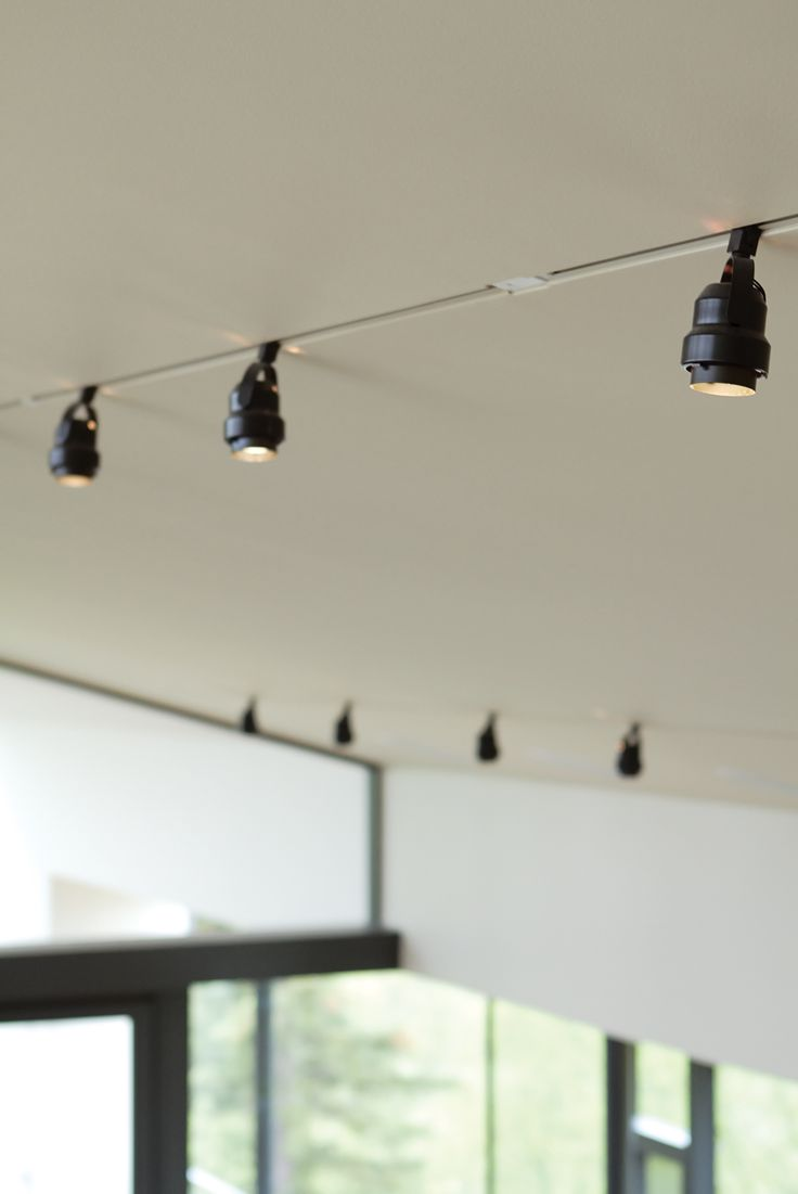 """Back on TrackIn cold places, recessed lighting in a vaulted ceiling can lead to water vapor problems in the roof. So Bull inset standard surface-mounted Juno track lights into a notch. """"With a flush track the common track light looks much more sophisticated,"""" he observes.  junolightinggroup.com"""