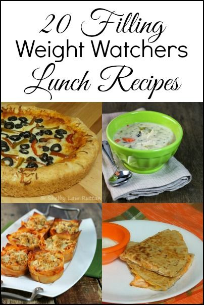 20 Weight Watchers Lunch Recipes with point values - A collection of filling lunch recipe ideas that are Weight Watchers friendly to help you feel satisfied.