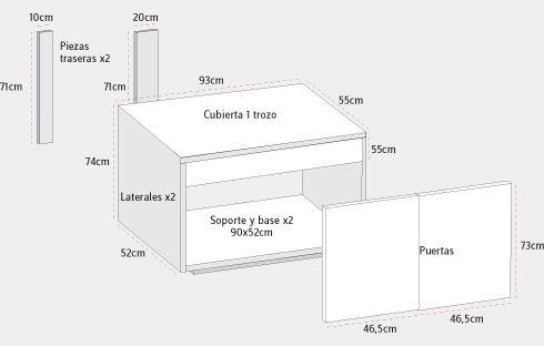 Cuando un baño tiene un lavamanos de pedestal, lo más común es que usemos los muros para colgar botiquines, poner repisas. Pero al final siempre se hace poco, porque ¿dónde podemos guardar toallas, el papel, el secador de pelo? Por eso queremos aprovechar el espacio alrededor del pedestal del lavamanos, para hacer un mueble de vanitorio que sirva para guardar todas estas cosas más grandes.