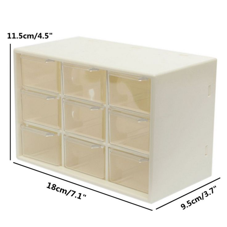 Plastic 9 Jewelry Storage Box Mini Debris Cabinets Lattice Portable Amall Drawer Sorting Grid Desktop Office Supplies-in Storage Boxes & Bins from Home & Garden on Aliexpress.com | Alibaba Group