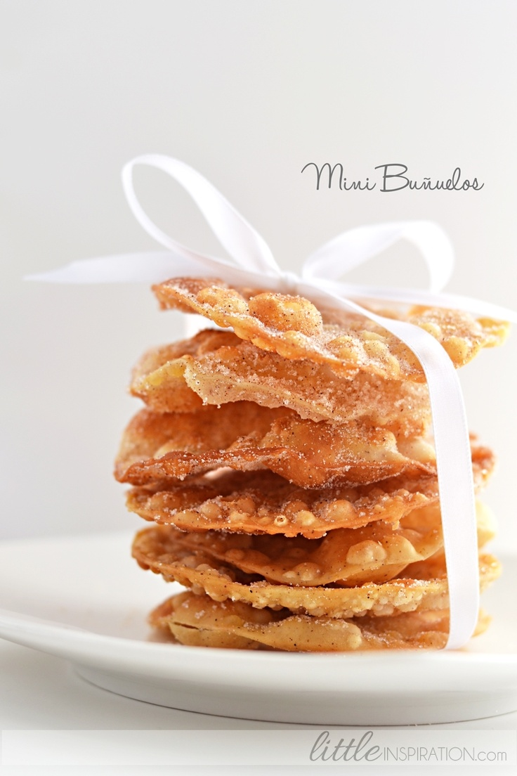Mini Buñuelos by A Little Inspiration #mexican #recipes #posadas...Like my fat ass needs these…but WTH!