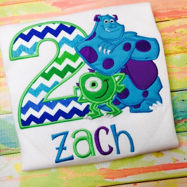 Monsters Inc Birthday Shirt - Personalized by SWDdesigns on Etsy https://www.etsy.com/listing/220825893/monsters-inc-birthday-shirt-personalized