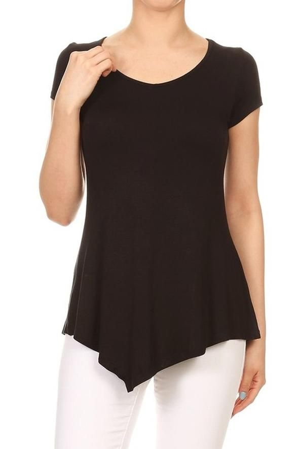 Women s Black Top Short Sleeve Shirt  S M L in 2019