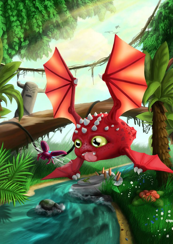 #dragon from 3jungle by kuuvalas on DeviantArt #fantasy, #digitalart, #photoshop