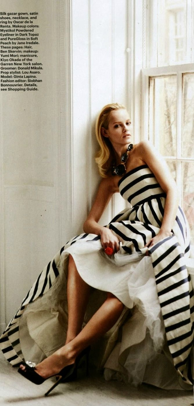Oscar de la Renta gown featured in Allure Magazine