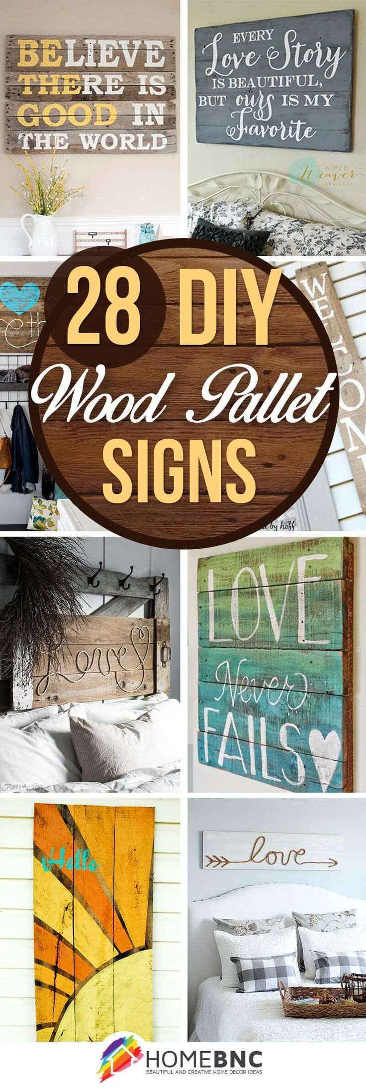 DIY Pallet Wood Sign Ideas