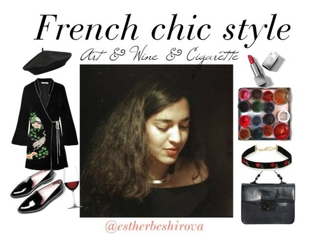 french chic style by bored-and-broken-madlen on Polyvore featuring RIXO London, Everlane, Steve Madden, M&Co, Burberry and Nachtmann