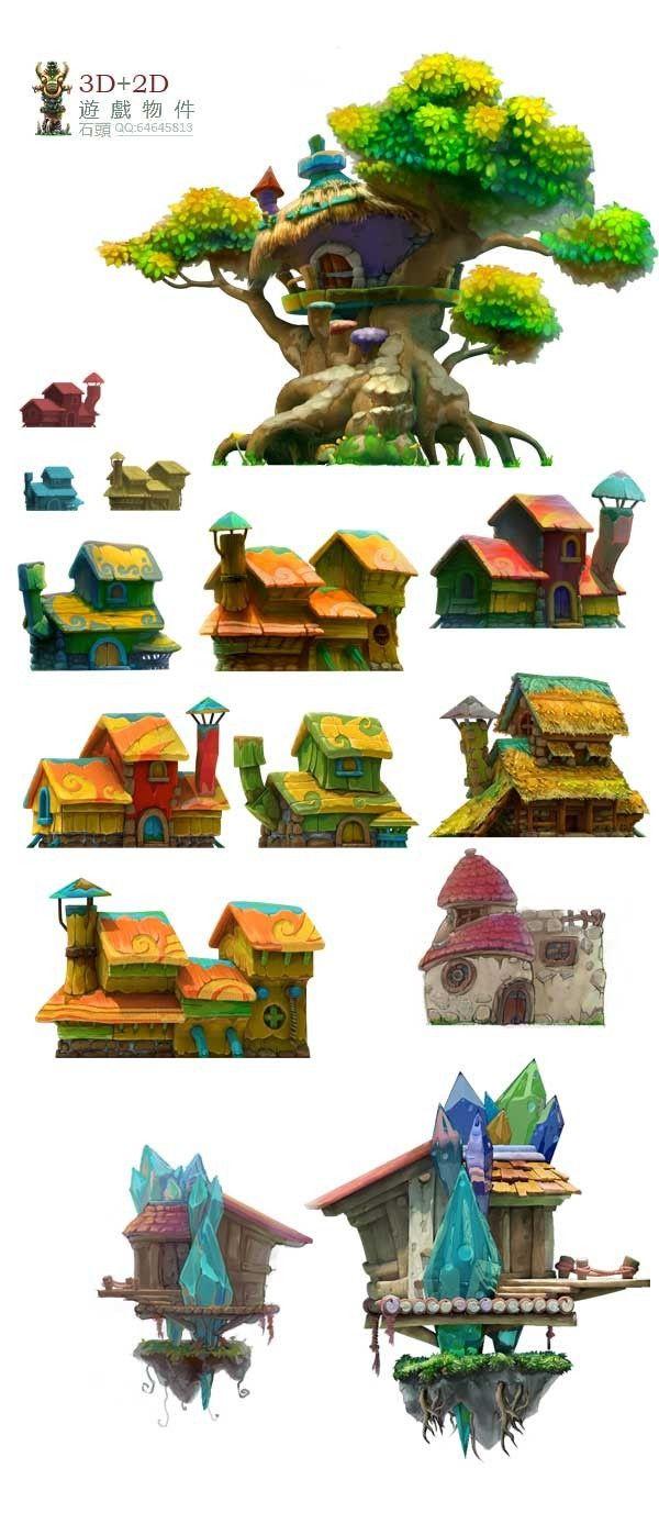 3D+2D  buildings