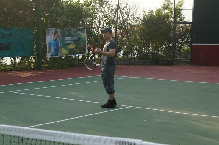 #Aamirkhan is taking a bliss of the Tennis. The has been present to boost the confidence of the tennis tournaments participants.