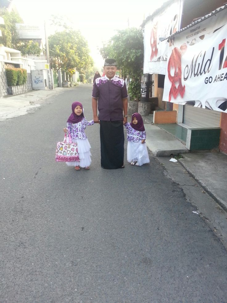 IED Mubarak's outfit 2016 daddy and girls