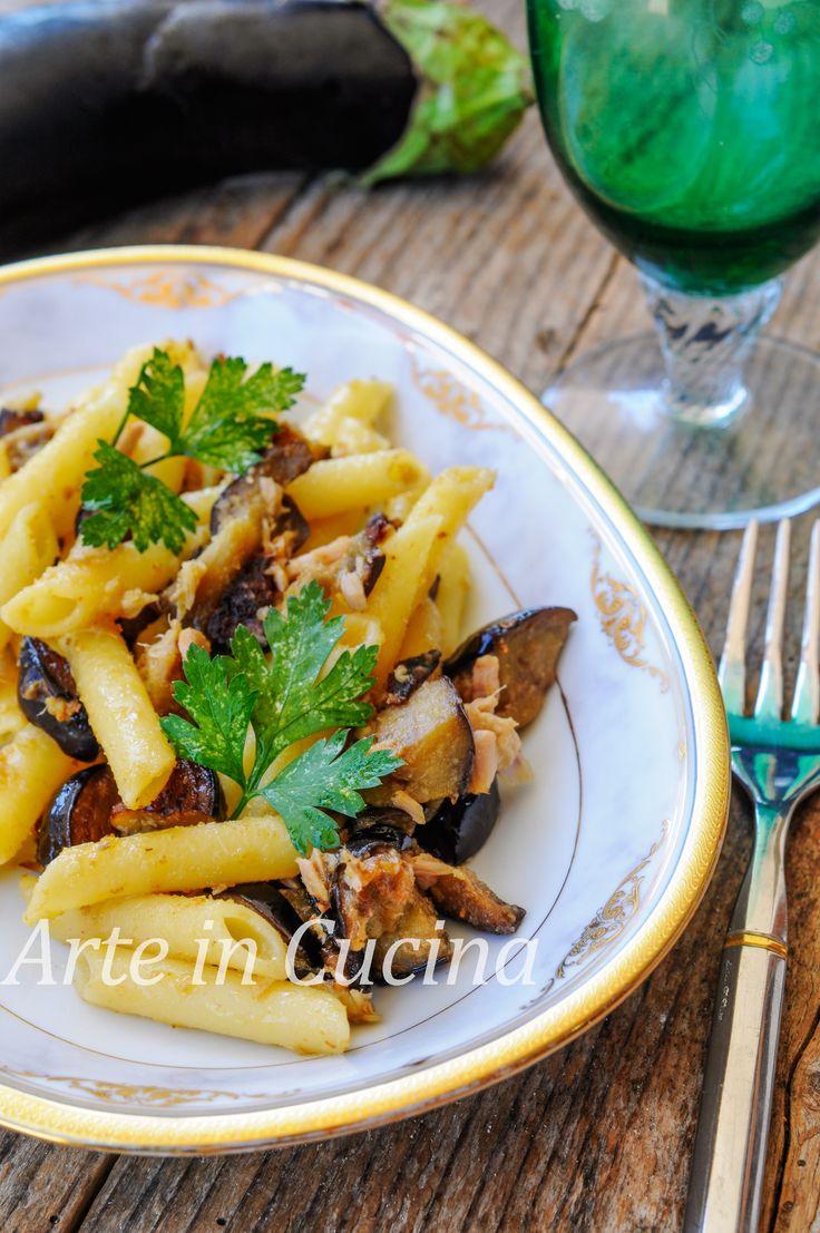 Pasta con melanzane tonno e mollica ricetta veloce vickyart arte in cucina
