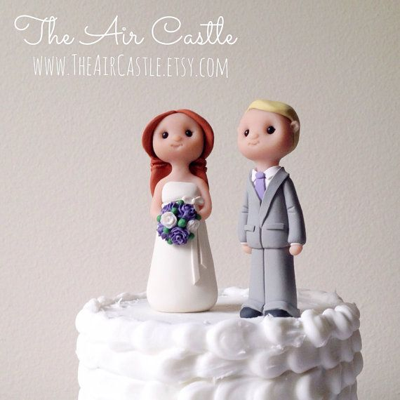 Custom People Wedding Cake Topper Handmade By Theaircastle On Etsy