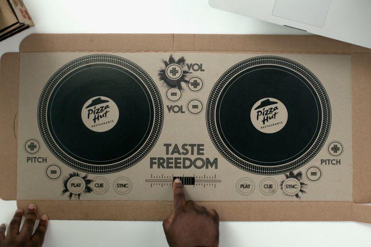 Η Pizza Hut λανσάρει το πρώτο playable DJ Pizza Box