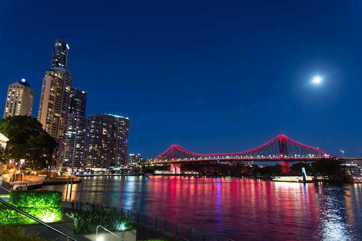 https://flic.kr/p/P48KPG | Brisbane, Australia - Story Bridge | The Story Bridge is a heritage-listed steel cantilever bridge spanning the Brisbane River that carries vehicular, bicycle and pedestrian traffic between the northern and the southern suburbs of Brisbane, Queensland, Australia. It is the longest cantilever bridge in Australia.  The bridge is part of Bradfield Highway and connects Fortitude Valley to Kangaroo Point. The Story Bridge opened in 1940 and was tolled until 1947. It is…