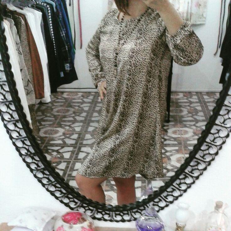Vestido de raso animal print by Si chiama Paolina♡