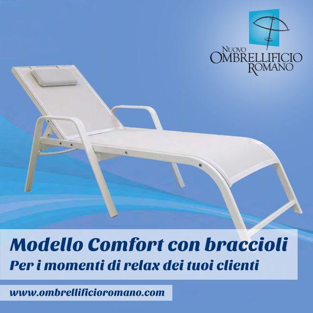 """Ecco un comodo lettino per la tua SPA, il tuo centro vacanza o la tua piscina! Si chiama """"Comfort"""", ed è disponibile sul nostro sito internet: http://goo.gl/x5hPfq"""