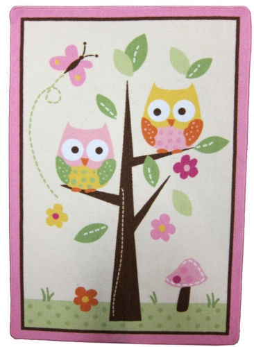 brand new circo love and nature brooke owl rug for. Black Bedroom Furniture Sets. Home Design Ideas