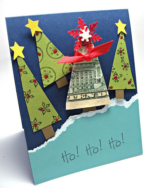 Money Tree-What a cute idea.  This might go over a bit better than last year's homemade presents for my spoiled nephews.