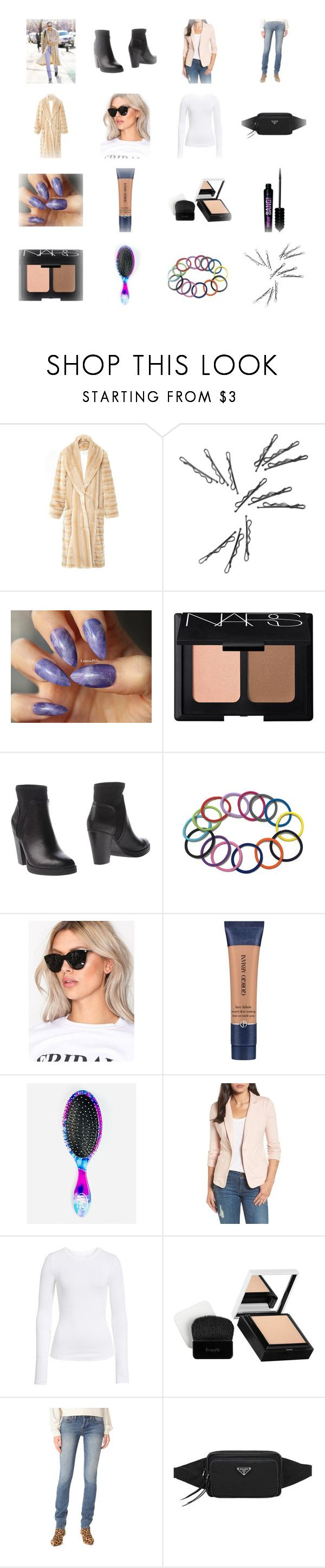 """""""Bella Hadid"""" by cheapchicceleb ❤ liked on Polyvore featuring NARS Cosmetics, Fornarina, Pieces, Giorgio Armani, The Wet Brush, Caslon, BP., Benefit and RE/DONE"""