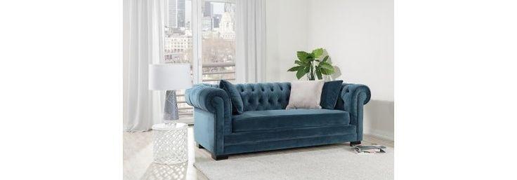 Sofa Chesterfield Classic Velvet Midnight   #dekoriapl #sofa #chesterfield #furniture #livingroom #aksamit #style #beautiful #design #