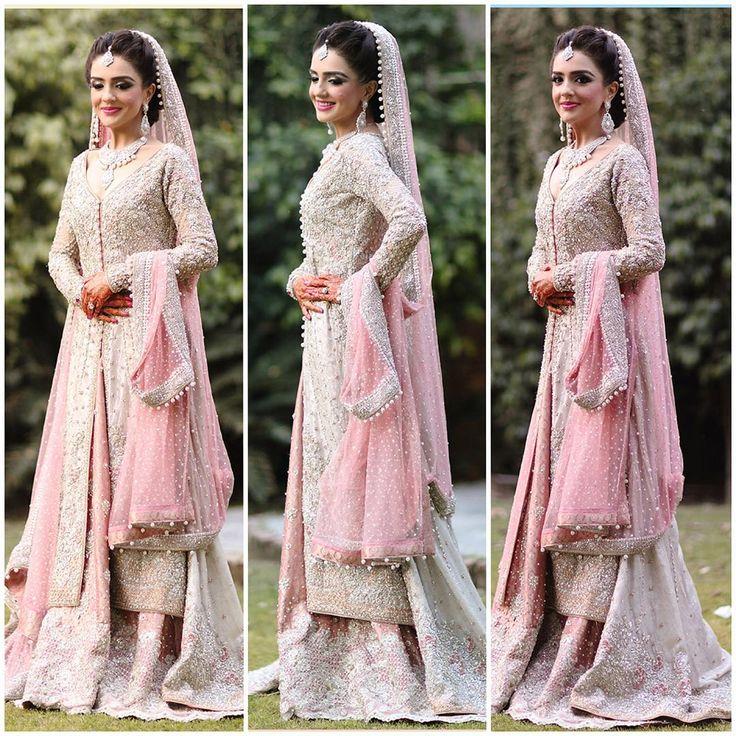 """Shanzae in a @farazmanan bridal #happiness #best #beautiful #bride #love #FarazManan #best #bridal #hautecouture #Lahore #dubai #mydubai #instabride #hot…"""