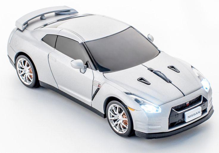 Nissan GT-R Silver mat wireless mouse