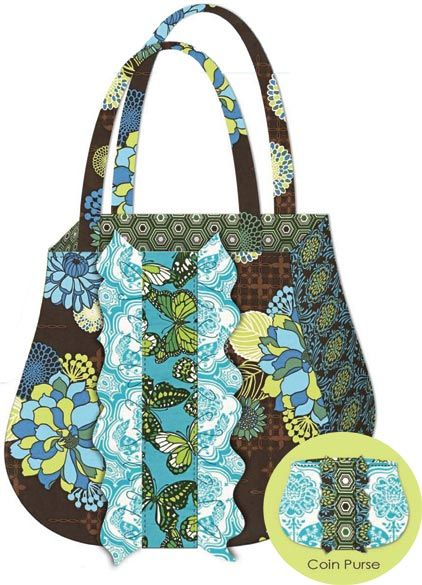 Ruffle Tote & Coin Purse Free Pattern: Robert Kaufman Fabric Company