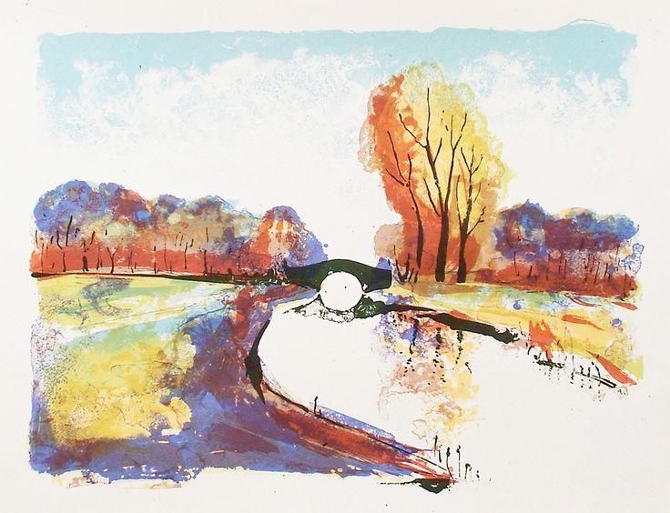 'Autumn Colour' a 6 colour print (30 x 40 cm) of an English autumnal scene.