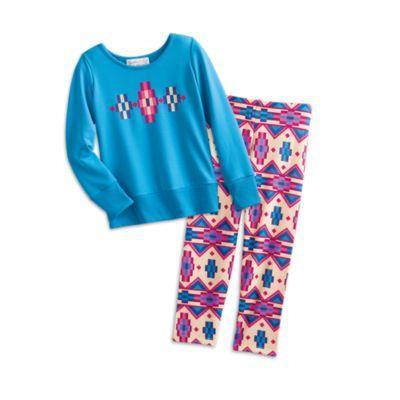 Blue Patterned Pajamas for Girls   BeForever   American Girl