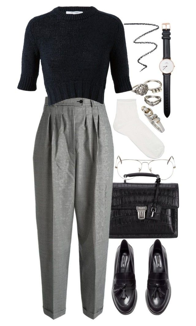 """""""Untitled #8739"""" by nikka-phillips ❤ liked on Polyvore featuring Mudd, Ray-Ban, Yves Saint Laurent, Carven, NARS Cosmetics, H&M, Topshop, Daniel Wellington and Tiffany & Co."""
