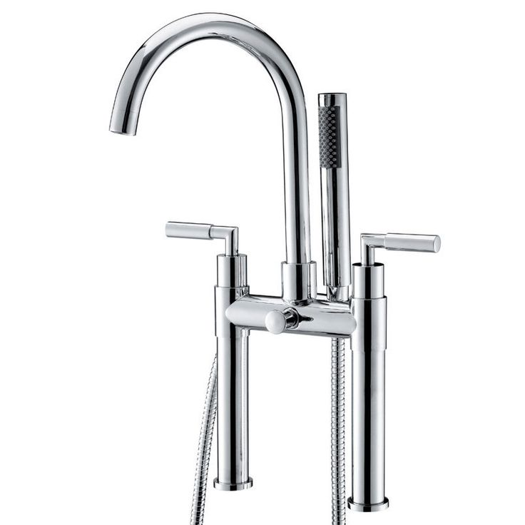 clawfoot tub faucet floor mount. Modern Chrome Deck Mount Clawfoot Tub Filler Faucet Tap Shower Ceramic Valve  New 30 best Floor Mounted Bath Mixer images on