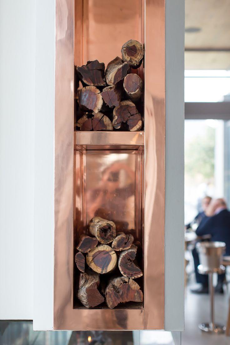 Copper Fireplace at Cavalli Estate   #CavalliEstate #InteriorDesign