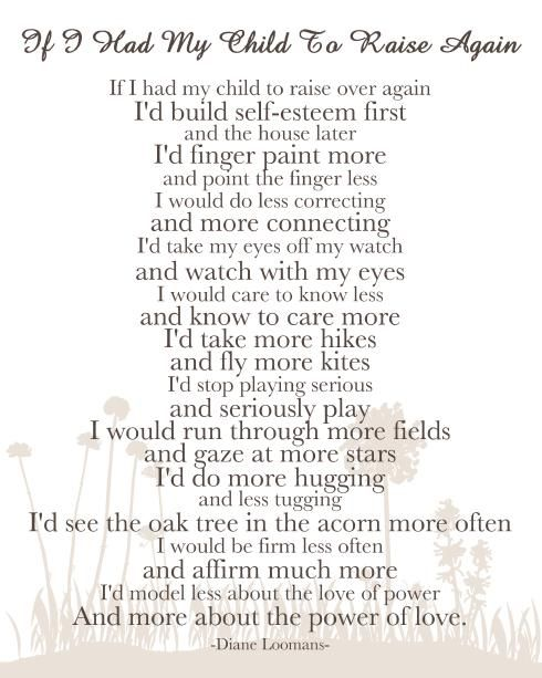 If I Had My Child To Raise Again... a good guide for parents and parents-to-be.