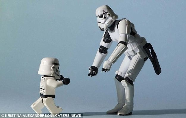 stormtrooper's family album on buzzfeed. instant love.: Storm Troopers, Storms Troopers, Lego Stars War, Father And Son, Star Wars, Action Figures, Stormtroopers, Photo Projects, Starwars