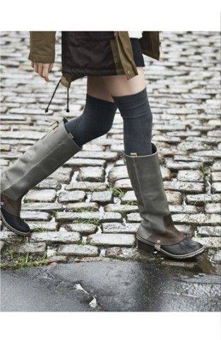 SOREL 'Slimpack' Riding Boot from Nordstrom or Athleta... perfect for splashing in puddles or sloshing through snow.