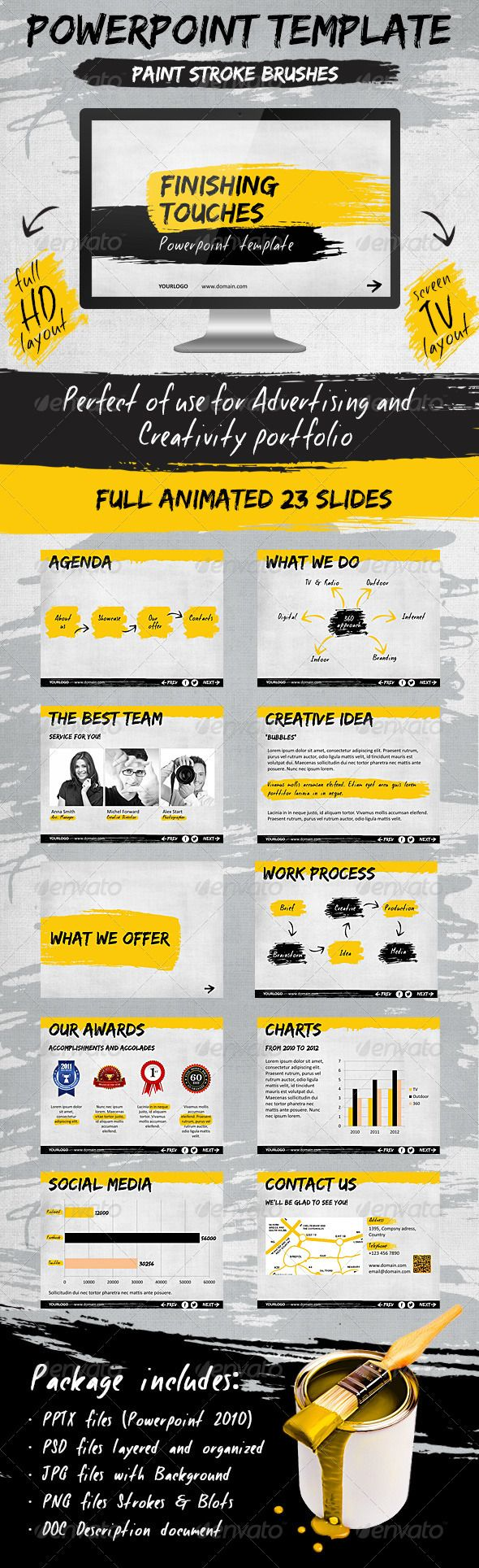 Presentation Templates - Finishing Touches Template | GraphicRiver, color pattern, design, presentation,