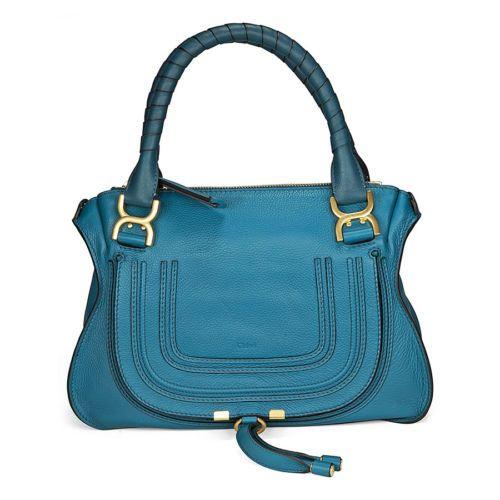 Chloe Marcie Blue Leather Mini Satchel 3S0860 161 73M | eBay | Bag ...