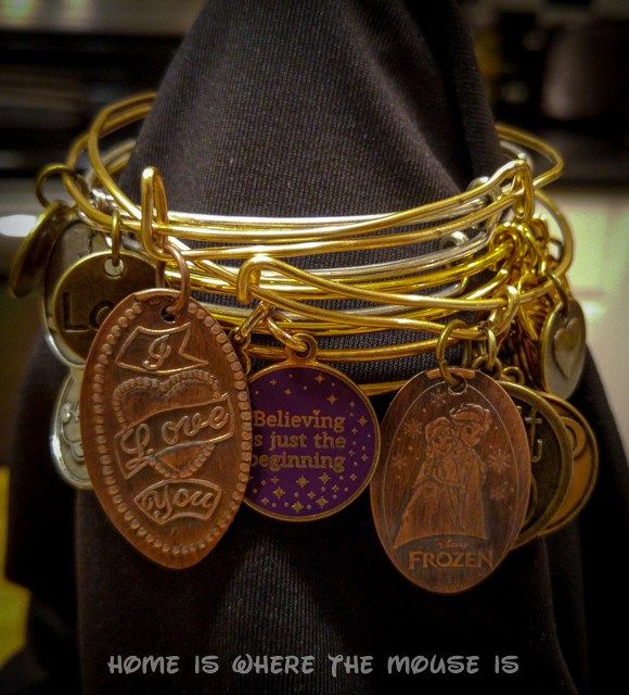 How to Make an Alex and Ani Style Disney Pressed Penny Bracelet | Adventures in Familyhood