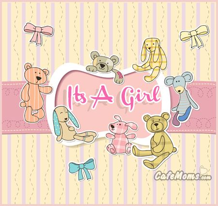 Its A Girl Cute Animals Graphic plus many other high quality Graphics for your Facebook profile at CafeMoms.com.
