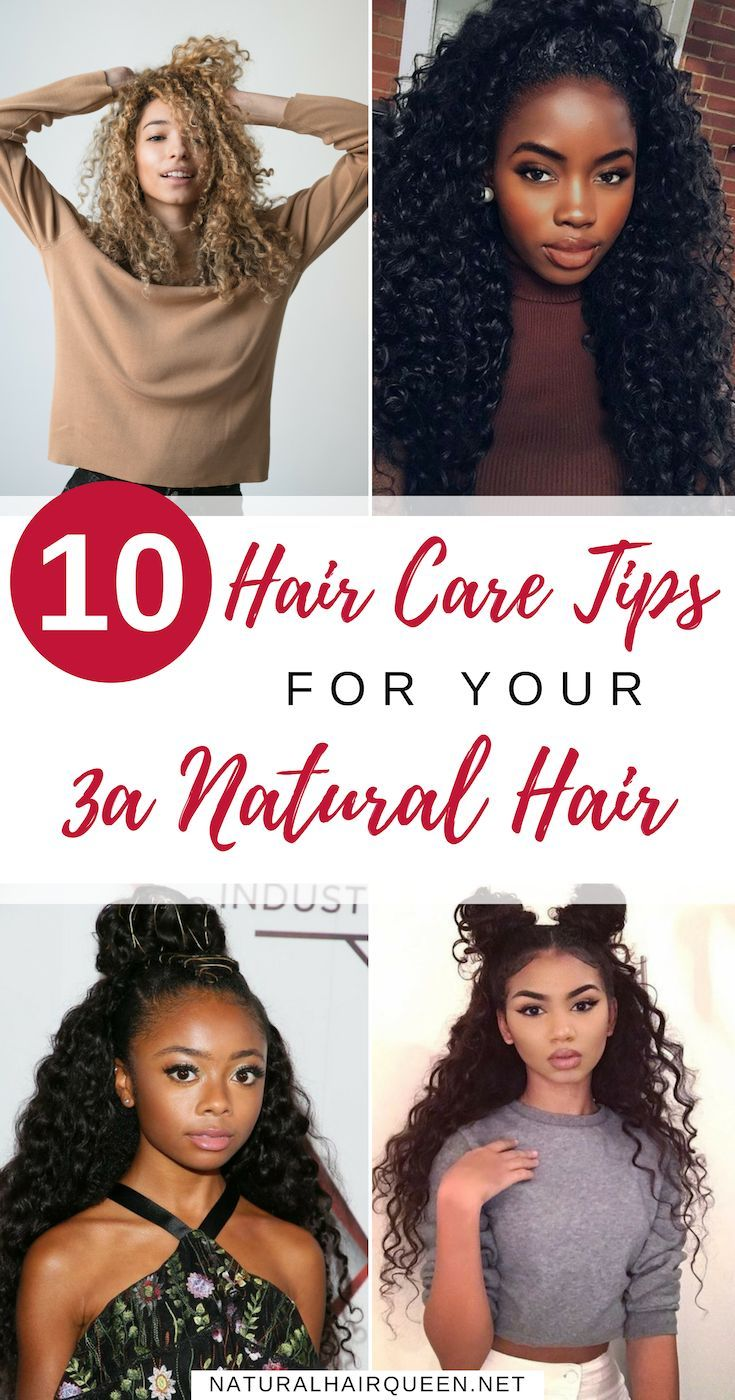 How To Care For Your 3a Natural Hair Curly Hair Styles Naturally Curly Hair Styles Hair Hacks