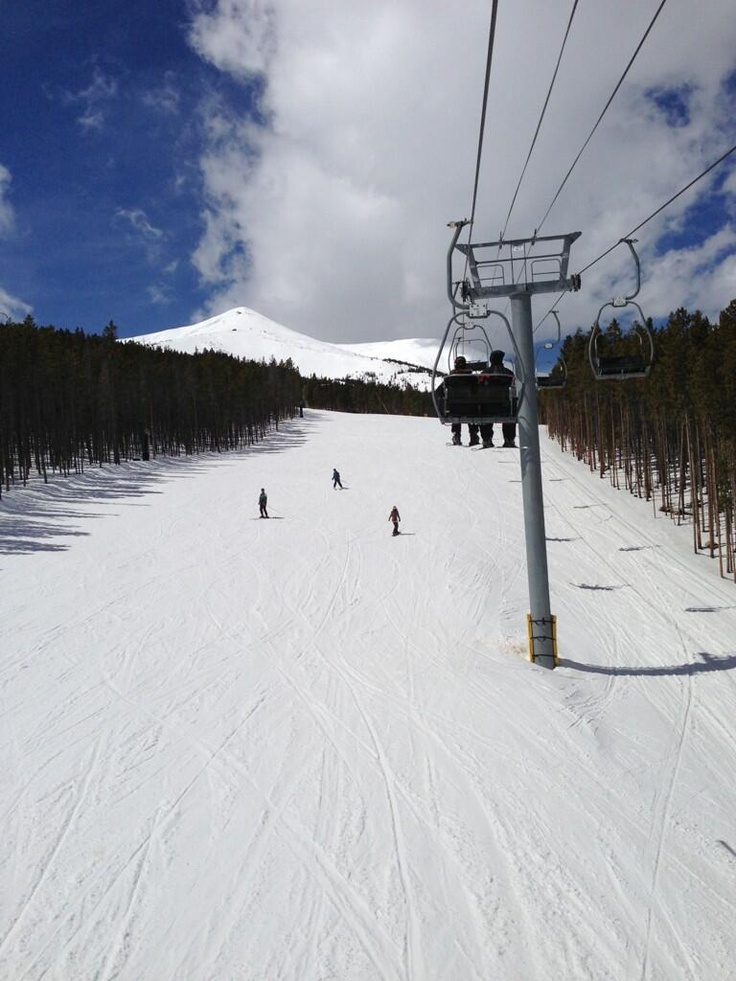 Doing a little spring skiing at Breck
