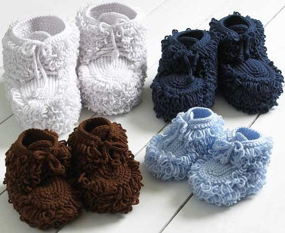 Mukluk Slippers Crochet Pattern images