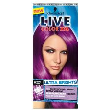 Get creative with Schwarzkopf LIVE Color XXL HD Purple Punk 94. Full head application, dip-dye, streak,  pastels or just adding a hint of purple to your current colour,  everything is possible!  <br>  <br> The no  commitment, semi-permanent formula is extremely versatile from full head  colour; to dip dye or just a top up  or you colour, this  purple shade is for you. <br><br> We  recommend  LIVE Color XXL HD Ultra Brights Purple  Punk 94 for: <br> Bleached, Lightener, Highlighted <br…