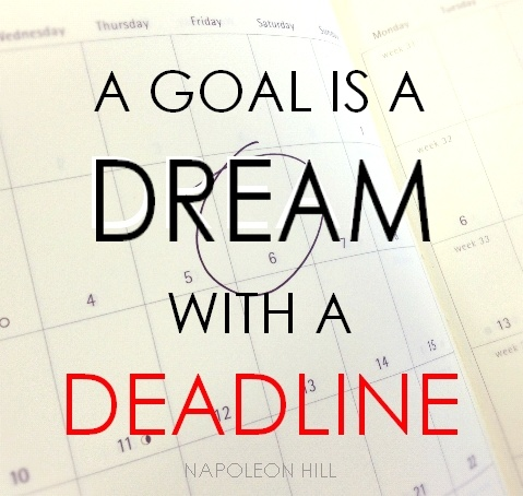 A goal is a dream with a deadline ~ Napoleon Hill... Your most healthy, abundantly fruitful self... Let's STOP Dreaming about it and START Being about it!