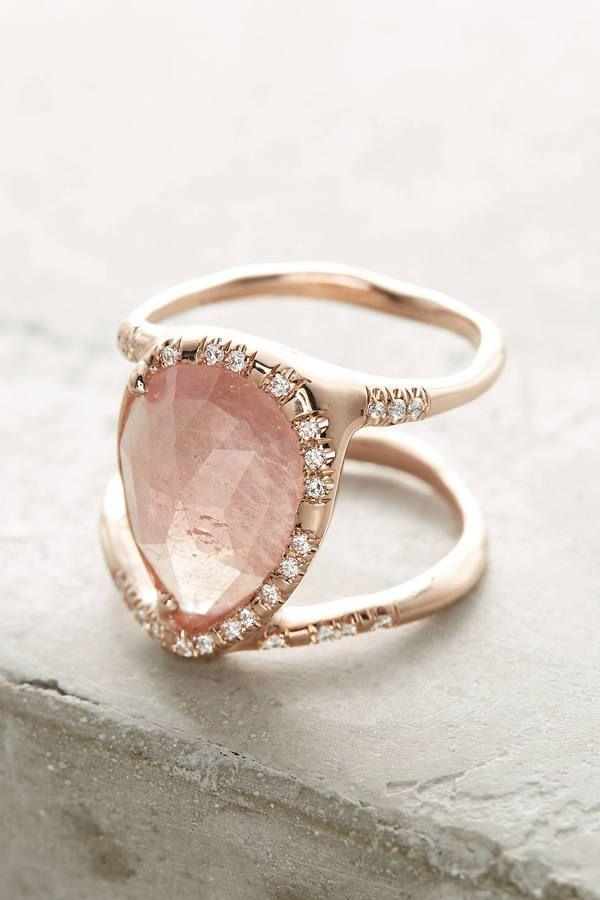 Sirciam Pink Sapphire Infinity Ring - This double-banded ring features a pastel pink sapphire stone and a swirl of luxe diamonds along its rose gold band. Handmade in Los Angeles by Sirciam using ethically sourced materials.