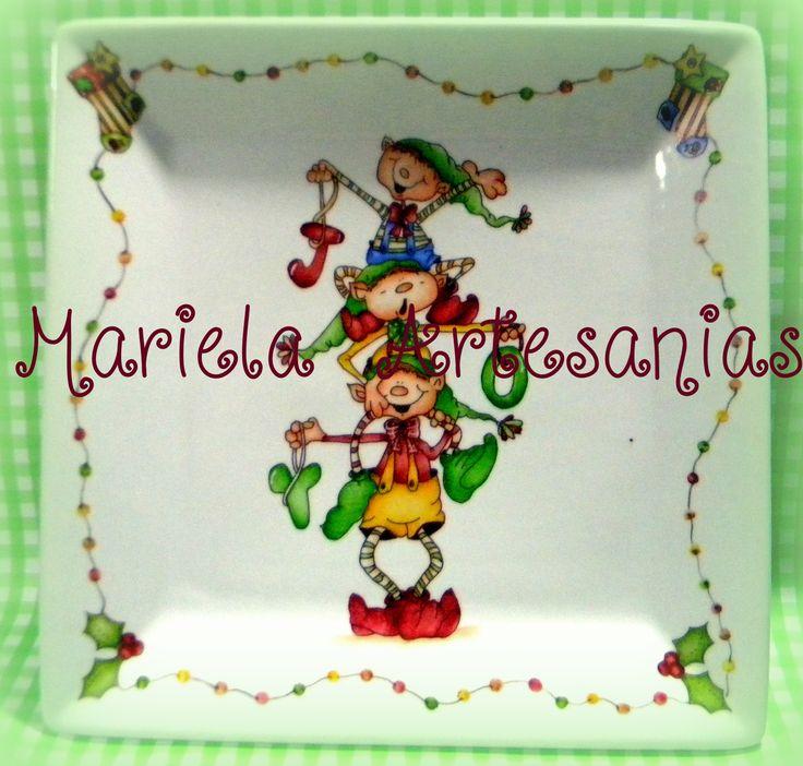Mejores 33 im genes de teteras pintadas en pinterest - Vajilla de navidad ...