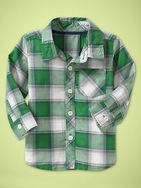 so adorable.Green Plaid, Girl Scouts, Baby Plaid, Baby Boys, Plaid Shirts, Baby Gap, Girls Scouts, Boys Clothing, Girl Scout Camping