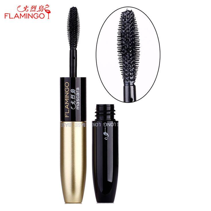 Free Shipping China Top Brand Flamingo Mascara Nourish & Lengthening Double-ended Waterproof Non-blooming Thick Mascara 6208