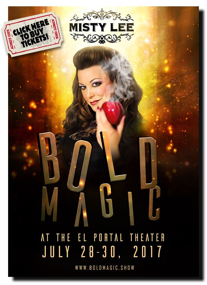 Magician Misty Lee brings her 'Shades of Danger'- Themed Magic to the El Portal this July.